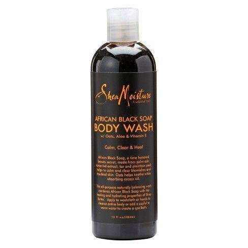Shea Moisture African Black Soap Body Wash - 13oz