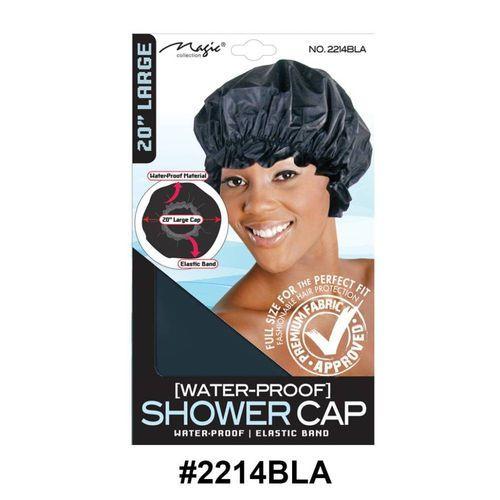 "Magic Collection Women's Shower 20"" Cap 2214bla"