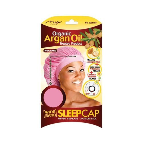 Magic Collection Organic Argan Oil Wide Band Sleep Cap Assorted Color - 3001ast - Assorted Colors