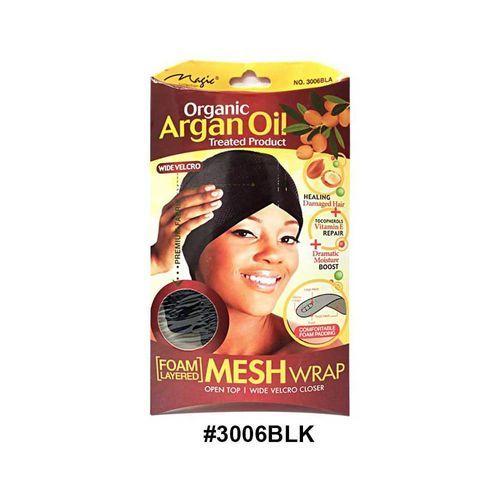 Magic Collection Women's Organic Argan Oil Treated Mesh Wrap 3006blk