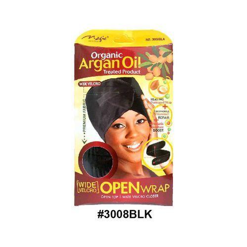 Magic Collection Women's Organic Argan Oil Treated Mesh Wrap 3008blk