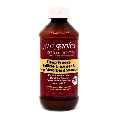Groganics Deep Freeze Follicle Cleanser & Scalp Absorbent Shampoo - 8oz