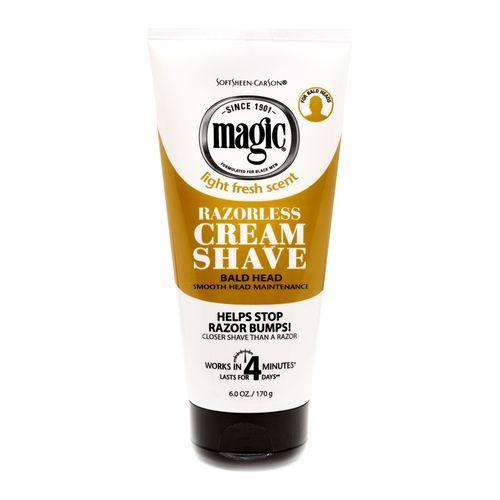Magic Razorless Cream Shave Smooth For Bald Head Maintenance - 170g