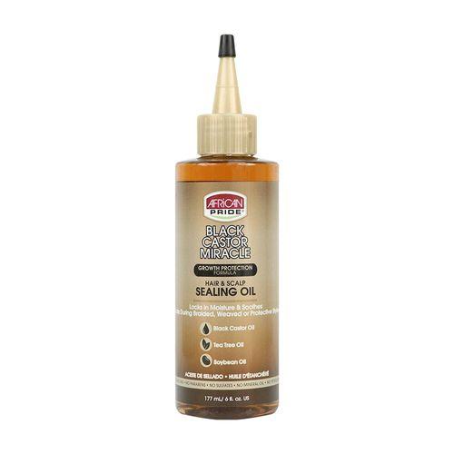 African Pride Black Castor Miracle Hair & Scalp Sealing Oil - 177ml