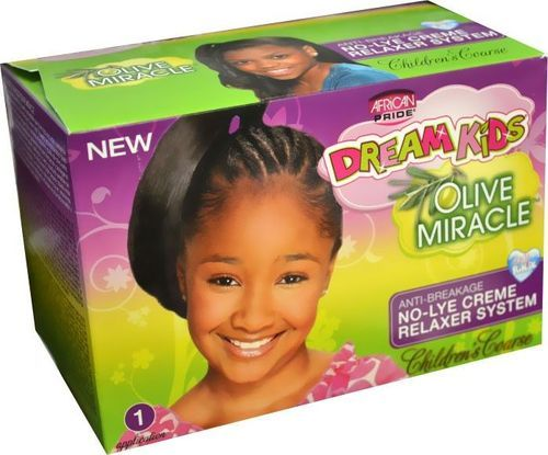 African Pride Dream Kids Olive Miracle No-Lye Creme Relaxer Super Kit