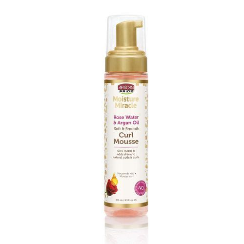 African Pride Moisture Miracle Rose Water And Argan Oil Curl Mousse - 8.5oz