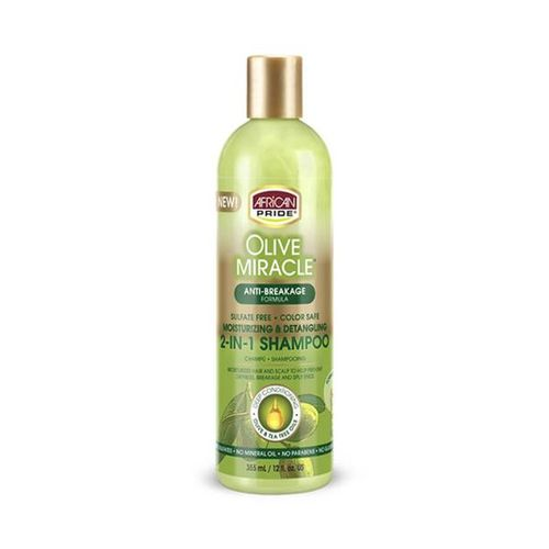 African Pride Olive Miracle 2 in 1 Shampoo & Conditioner - 355ml