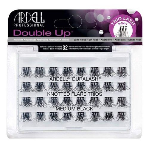 Ardell Double Up Knotted Flare Trios - Black Medium