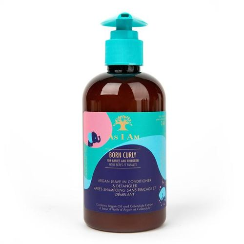 As I Am Born Argan Curly Leave-In Conditioner And Detangler - 8oz