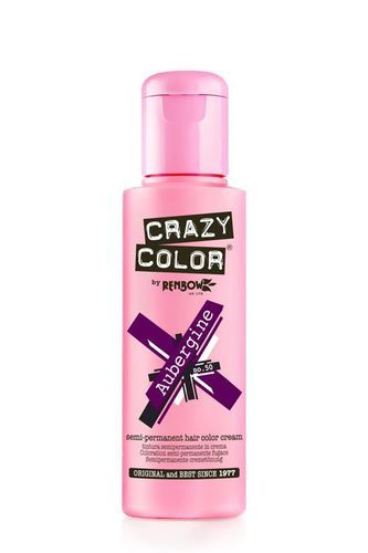 Crazy Color Semi Permanent Hair Color Cream - Aubergine