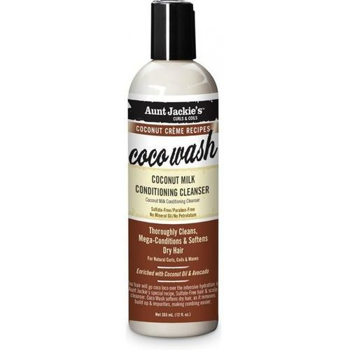Aunt Jackie's Coco Wash Coconut Milk Conditioning Cleanser - 12oz