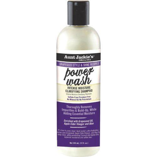 Aunt Jackie's Grapeseed Power Wash Intense Moisture Clarifying Shampoo - 12oz