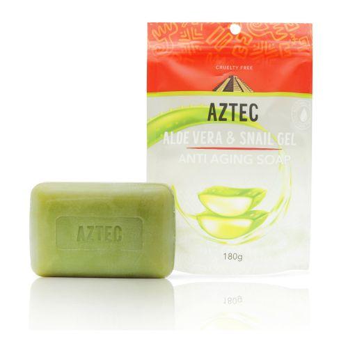 Aztec Aloe Vera & Snail Gel Anti-aging Soap 180g