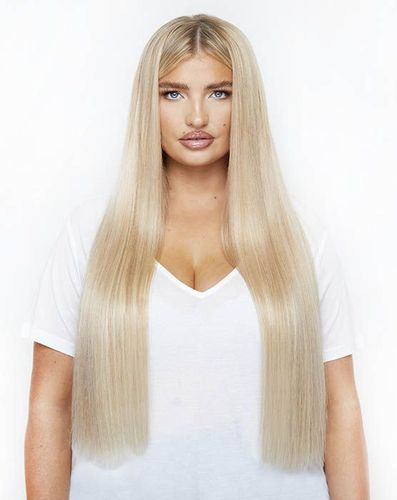 """Beauty Works Deluxe Clip-In Hair Extensions - Ebony,20"""""""