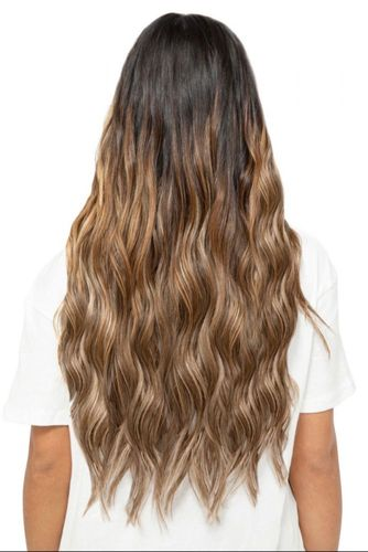 """Beauty Works Double Hair Set Clip-In Extensions - Barley Blonde,22"""""""