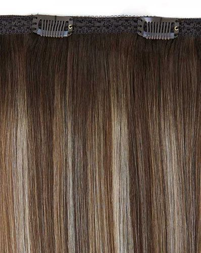 """Beauty Works Double Hair Set Clip-In Extensions - Ebony,18"""""""