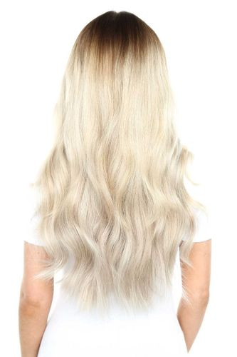 """Beauty Works Gold Double Weft Extensions - Ivory,22"""""""