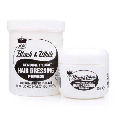 Black & White Genuine Pluko Hair Dressing Pomade - 200ml