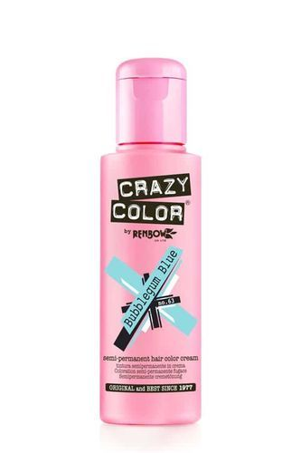 Crazy Color Semi Permanent Hair Color Cream - Bubblegum Blue
