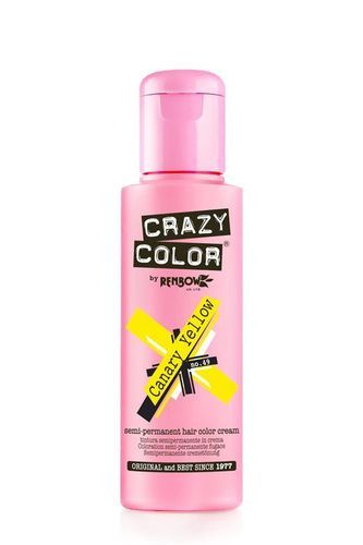 Crazy Color Semi Permanent Hair Color Cream - Canary Yellow