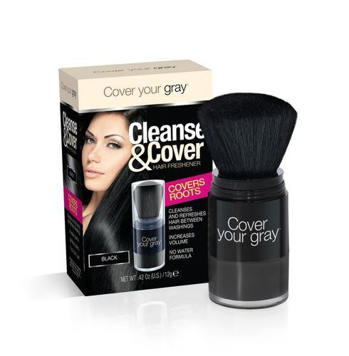 Cover Your Gray Cleanse & Cover Hair Freshener - 12g,Black
