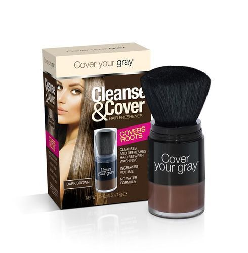 Cover Your Gray Cleanse & Cover Hair Freshener - 12g,Dark Brown