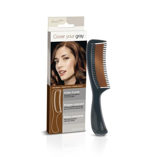Cover Your Gray Color Comb - 10g,Dark Brown