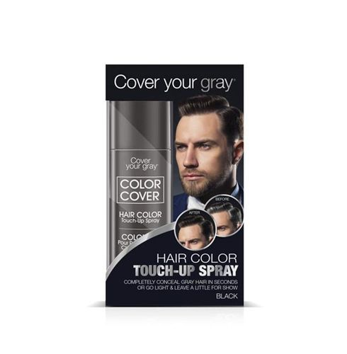 Cover Your Gray Mens Color Cover Hair Color Touch Up Spray - 57g,Black
