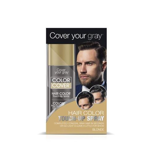 Cover Your Gray Mens Color Cover Hair Color Touch Up Spray - 57g,Blonde
