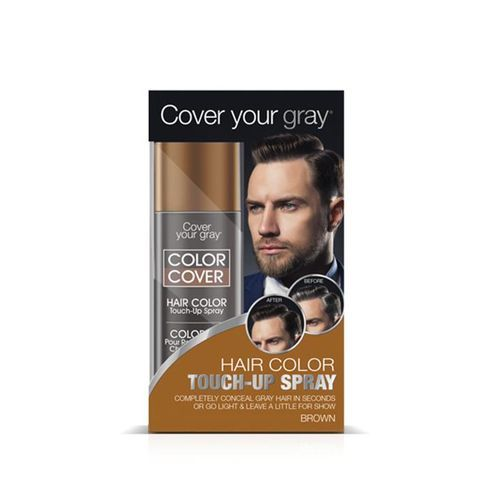 Cover Your Gray Mens Color Cover Hair Color Touch Up Spray - 57g,Dark Brown