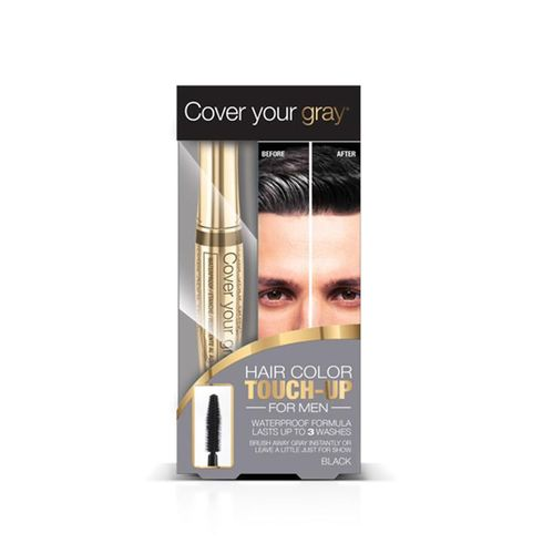Cover Your Gray Mens Waterproof Brush In Hair Color Touch-up - 7g,Black