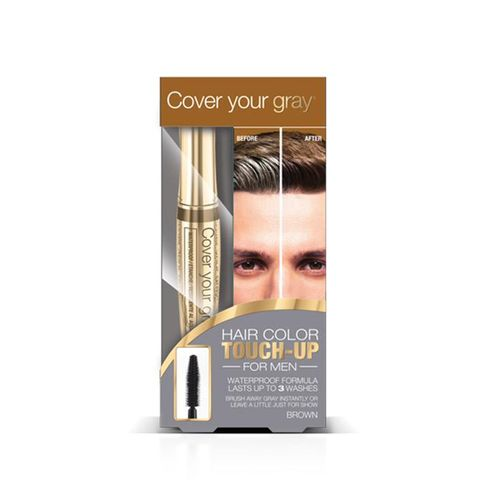 Cover Your Gray Mens Waterproof Brush In Hair Color Touch-up - 7g,Medium Brown