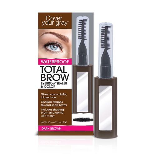 Cover Your Gray Total Brow Eyebrow Sealer & Color - 10g,Dark Brown