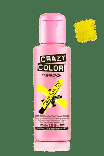 Crazy Color Semi Permanent Hair Color Cream - Caution Uv