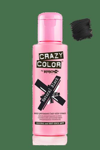 Crazy Color Semi Permanent Hair Color Cream - Natural Black