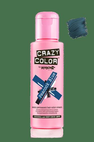 Crazy Color Semi Permanent Hair Color Cream - Peacock Blue