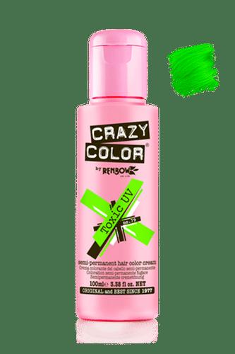 Crazy Color Semi Permanent Hair Color Cream - Toxic Uv