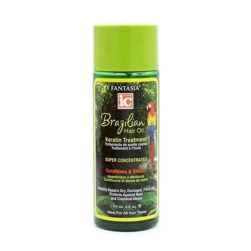 IC Fantasia Brazilian Hair Oil Keratin Treatment Serum - 6oz