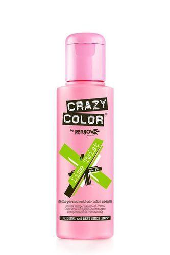 Crazy Color Semi Permanent Hair Color Cream - Lime Twist