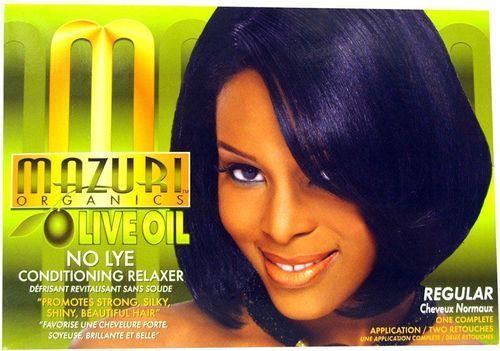 Mazuri Olive Oil No Lye Conditioning Relaxer - 1app,Regular