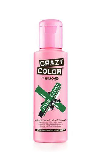 Crazy Color Semi Permanent Hair Color Cream - Pine Green