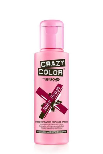 Crazy Color Semi Permanent Hair Color Cream - Ruby Rouge