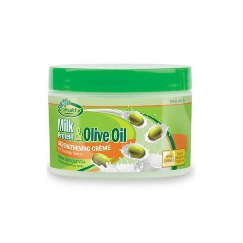 Sofn'Free GroHealthy Milk Protein & Olive Oil Strengthening Creme In Jar - 250g