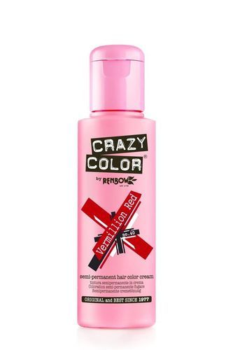 Crazy Color Semi Permanent Hair Color Cream - Vermillion Red