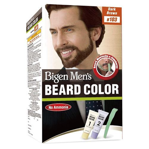 Bigen Men's Beard Colour - Dark Brown B103