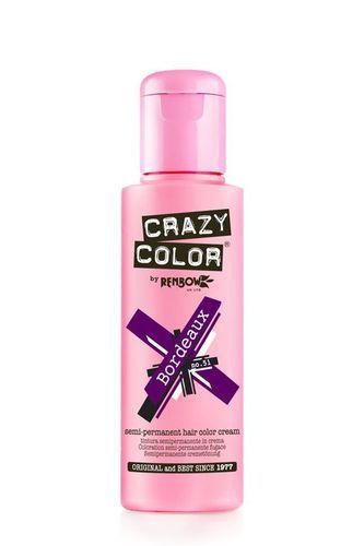 Crazy Color Semi Permanent Hair Color Cream - Bordeaux