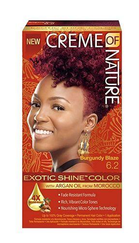 Creme Of Nature Exotic Shine Permanent Hair Colour With Argan Oil - Burgundy Blaze,6.2