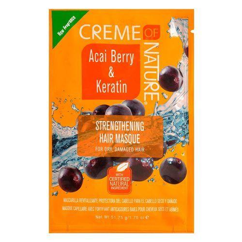 Creme Of Nature Acai Berry & Keratin Strengthening Hair Masque - 1.75oz