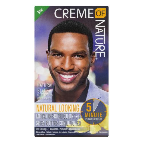 Creme Of Nature Permanent Hair Color For Men - Natural Black