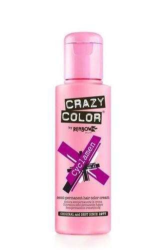 Crazy Color Semi Permanent Hair Color Cream - Cyclamen